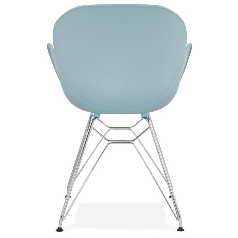 design stuhl industriellen stil tom fu verchromten metall. Black Bedroom Furniture Sets. Home Design Ideas