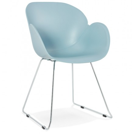 Design chair foot tapered ADELE polypropylene (sky blue)