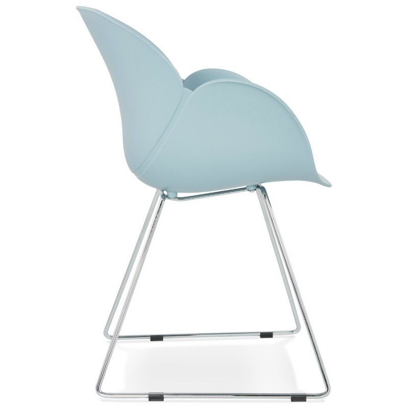 Design chair foot tapered ADELE polypropylene (sky blue) - image 36783