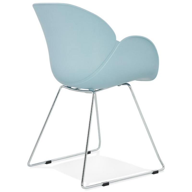 Design chair foot tapered ADELE polypropylene (sky blue) - image 36784