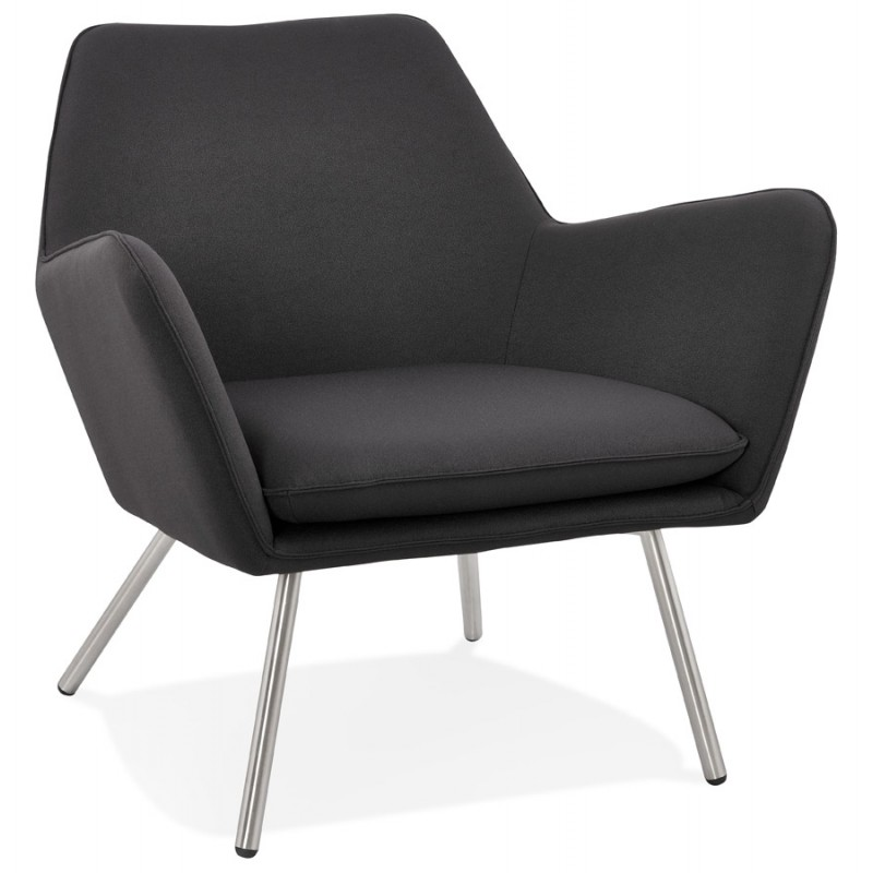 Design lounge YORI fabric Chair (charcoal gray)
