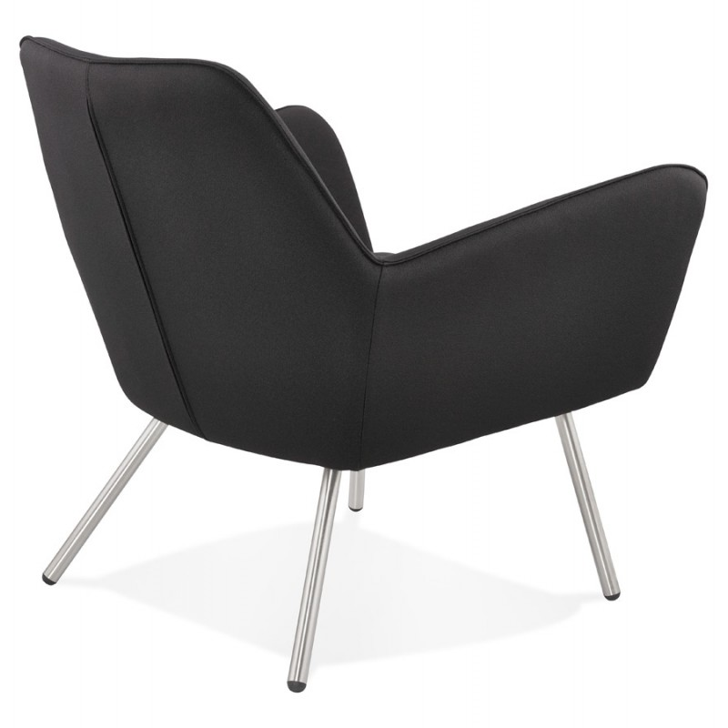 Design lounge YORI fabric Chair (charcoal gray) - image 36797