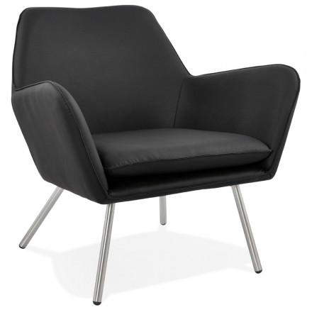 Lounge chair design and retro HIRO (black)