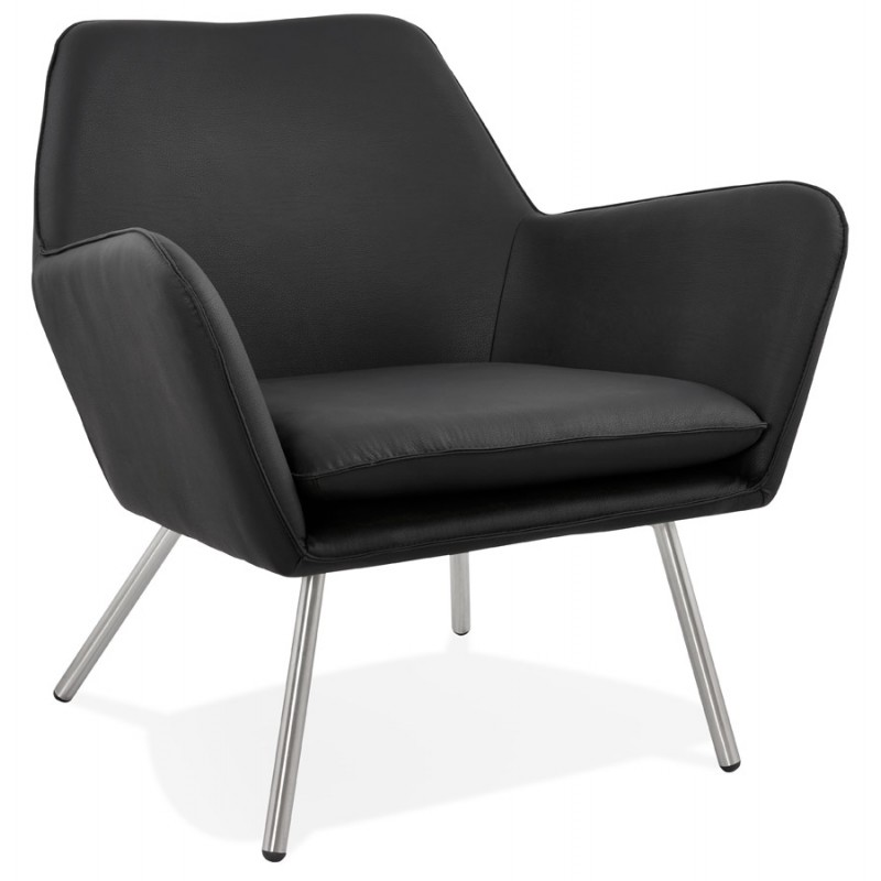 Chaise longue design e HIRO retrò (nero)