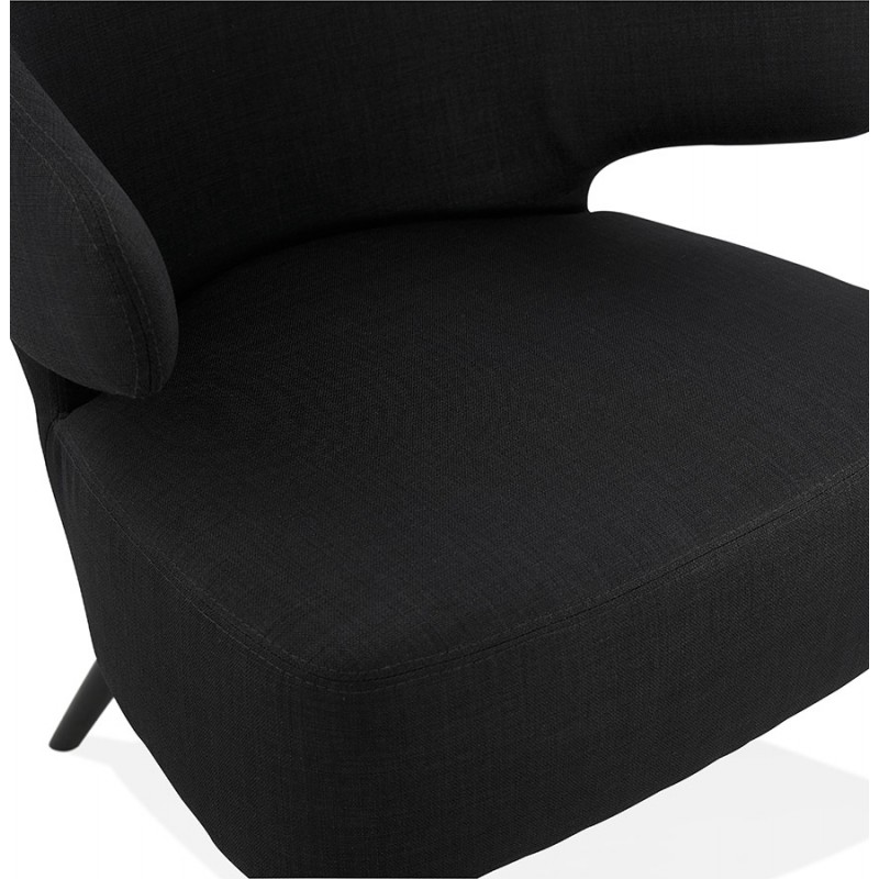 fauteuil design yasuo en tissu noir. Black Bedroom Furniture Sets. Home Design Ideas