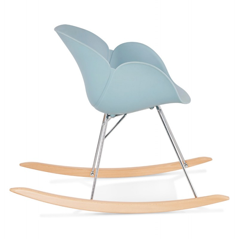 Rocking design EDEN (sky blue) polypropylene Chair - image 36922