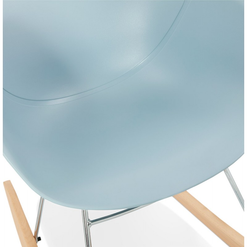 Rocking design EDEN (sky blue) polypropylene Chair - image 36925