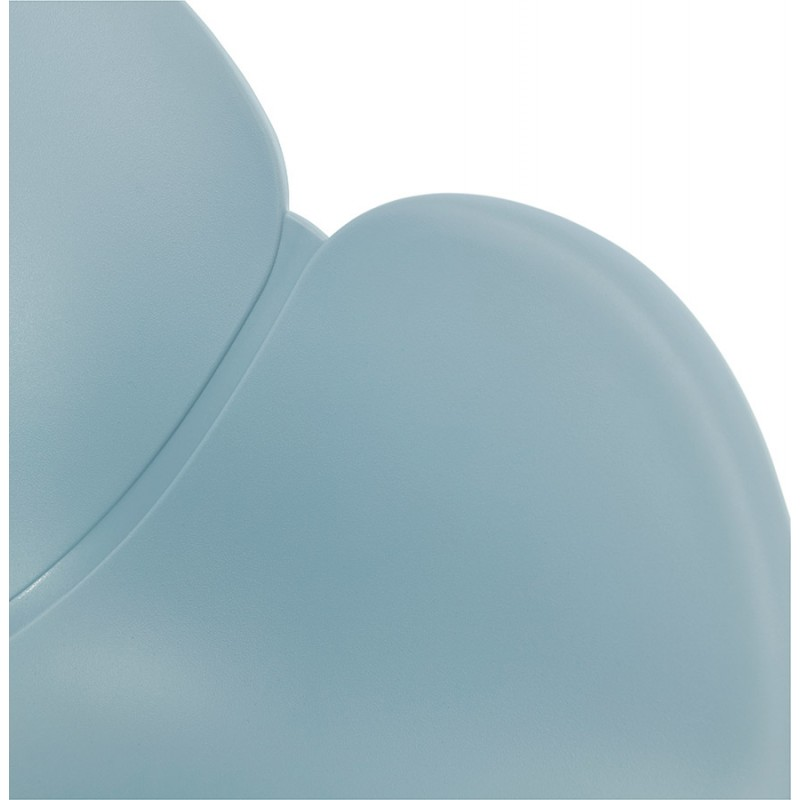 Rocking design EDEN (sky blue) polypropylene Chair - image 36926