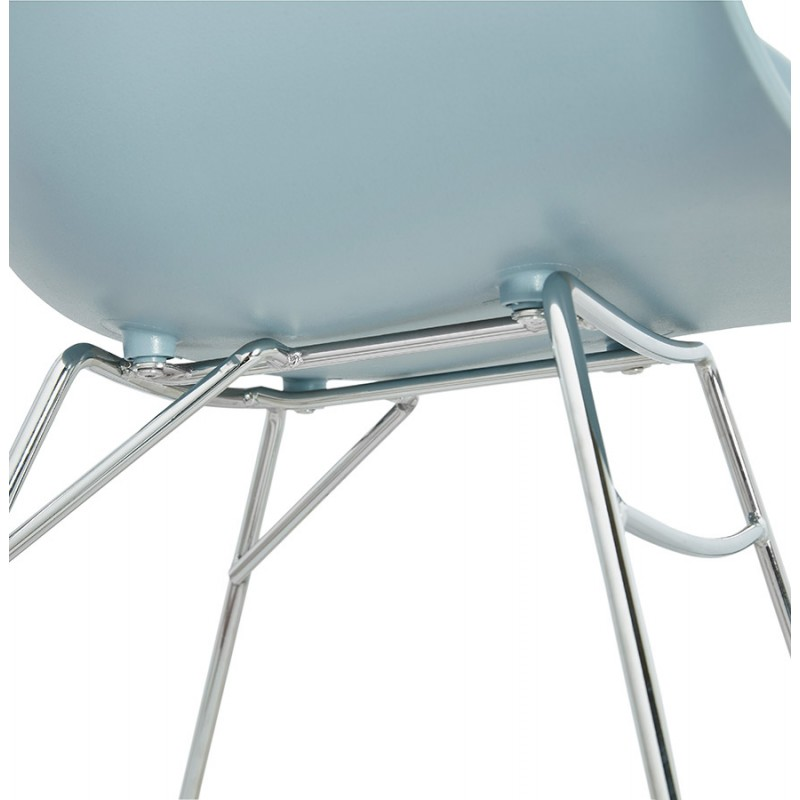 Rocking design EDEN (sky blue) polypropylene Chair - image 36928