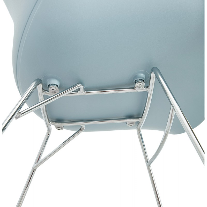 Rocking design EDEN (sky blue) polypropylene Chair - image 36929