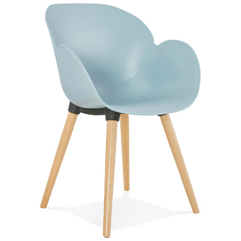 Chaise design style scandinave LENA en polypropylène (bleu ciel) - image 36946