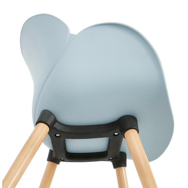 Chaise design style scandinave LENA en polypropylène (bleu ciel) - image 36955