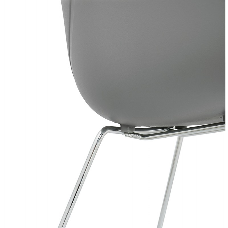 Design chair foot tapered ADELE polypropylene (light gray) - image 36993