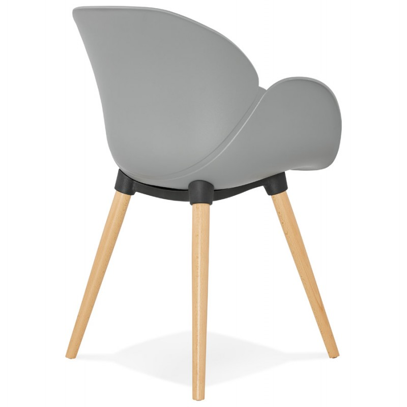 Design chair style Scandinavian LENA polypropylene (light gray) - image 37000