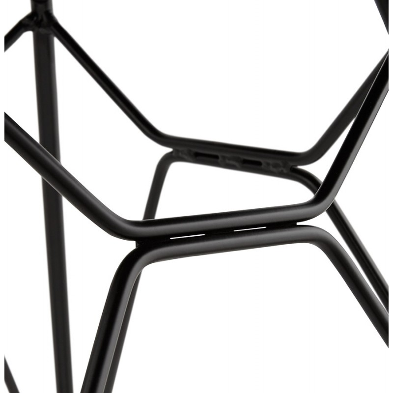 Design chair industrial style TOM polypropylene foot black metal (light gray) - image 37020