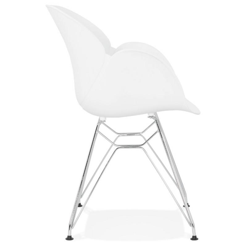 design stuhl industriellen stil tom polypropylen fu. Black Bedroom Furniture Sets. Home Design Ideas