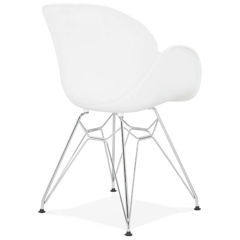 Design chair industrial style TOM polypropylene foot chromed metal (white) - image 37027