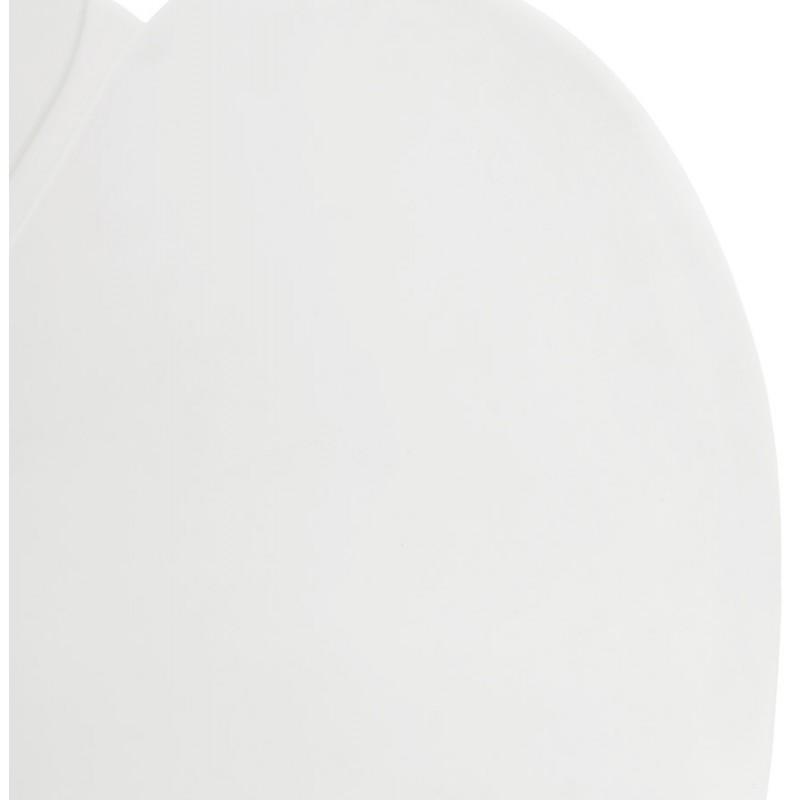 Chaise design style industriel TOM en polypropylène pied métal chromé (blanc) - image 37031
