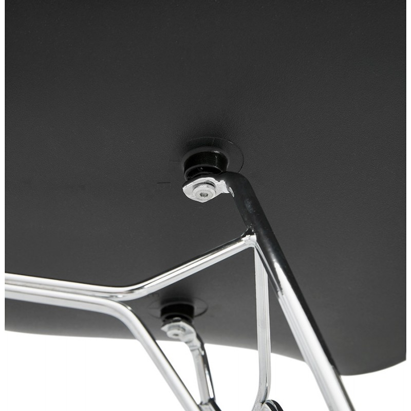 Design chair industrial style TOM polypropylene foot chromed metal (black) - image 37045
