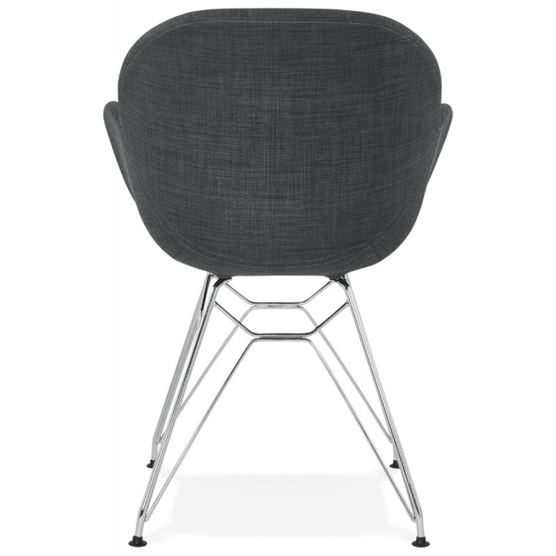 Design chair industrial style TOM fabric foot chromed metal (dark gray) - image 37054