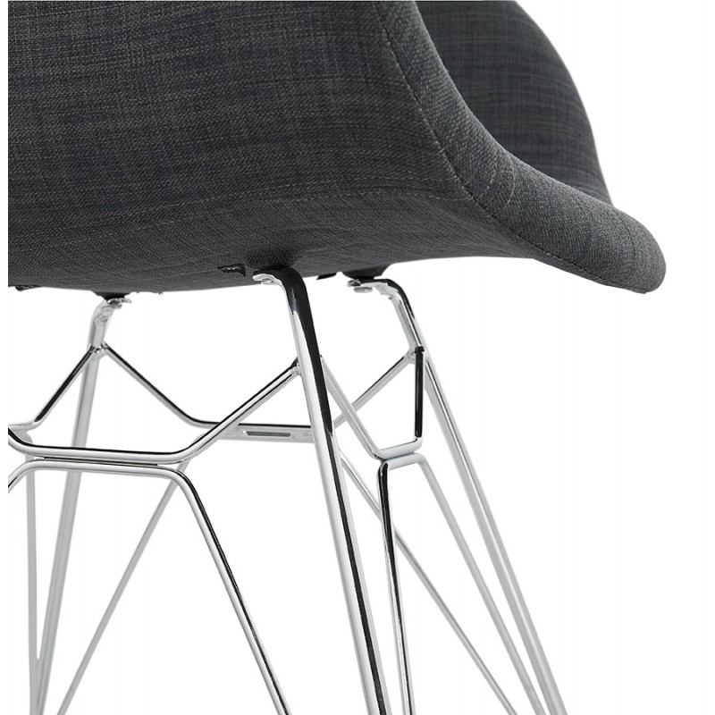 Design chair industrial style TOM fabric foot chromed metal (dark gray) - image 37059
