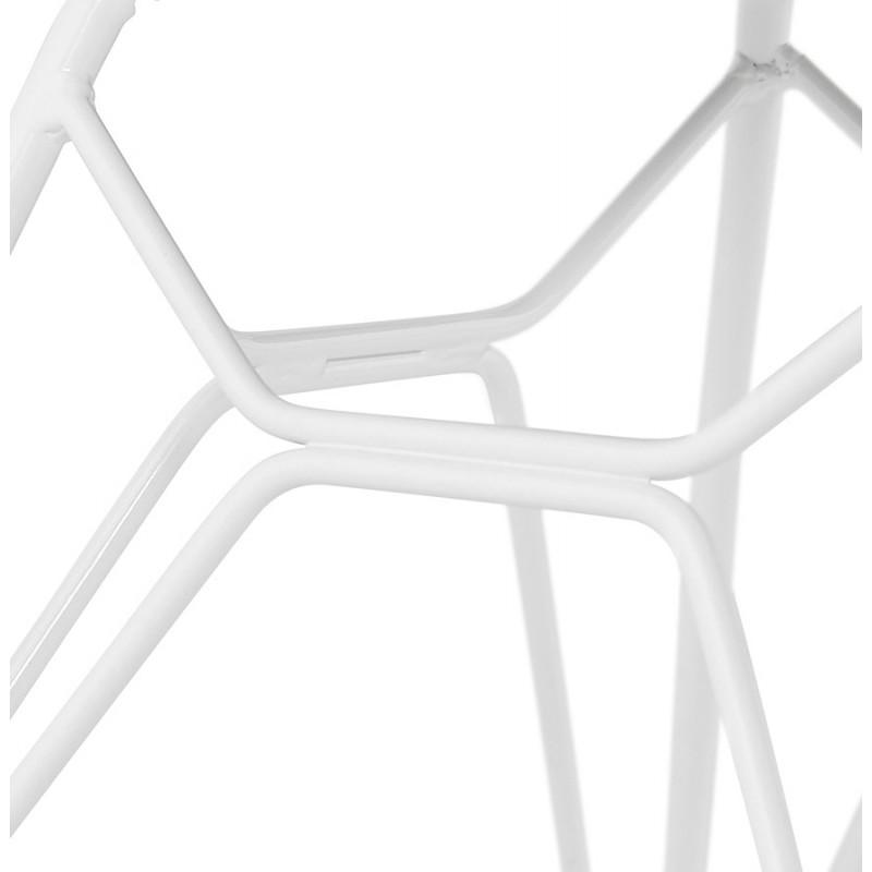 Chaise design et moderne TOM en polypropylène pied métal blanc (rose poudré) - image 37074