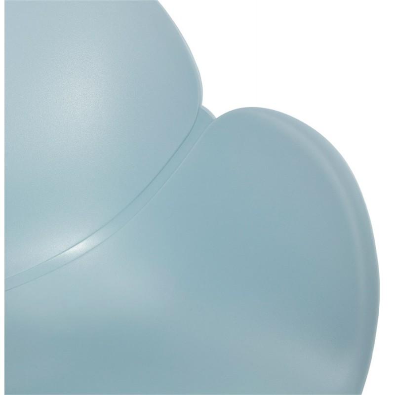 Sedia design e moderno TOM in polipropilene bianco metallo base (celeste) - image 37082