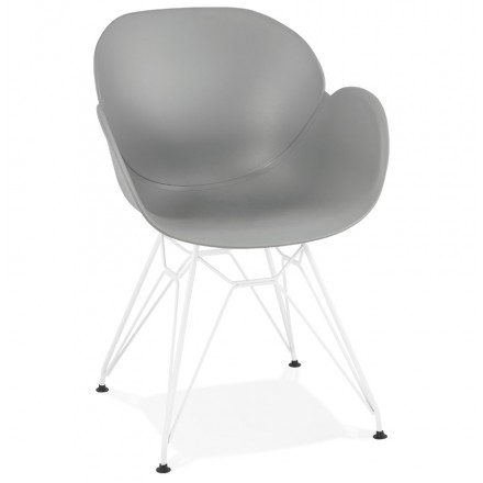 Chair design and modern TOM polypropylene foot white metal (light gray)