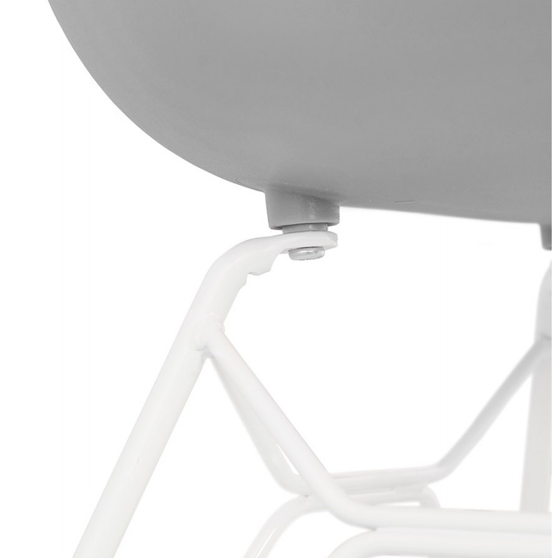 Chair design and modern TOM polypropylene foot white metal (light gray) - image 37096