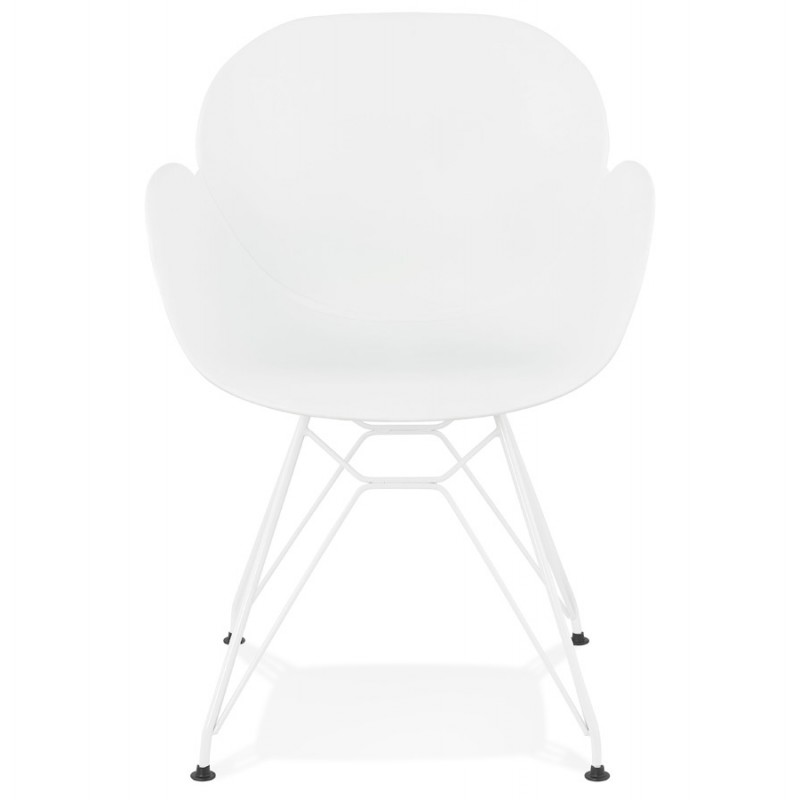 Design chair and moderne TOM polypropylene foot (white) white metal - image 37100