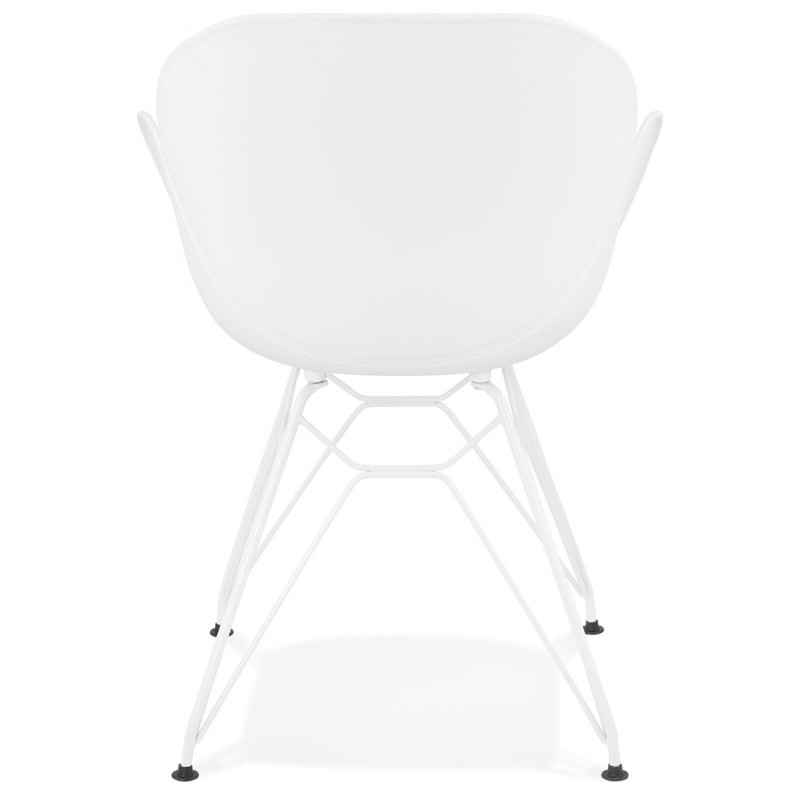 Design chair and moderne TOM polypropylene foot (white) white metal - image 37103