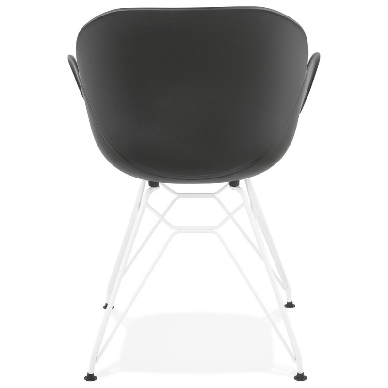 Chaise design et moderne TOM en polypropylène pied métal blanc (noir) - image 37115