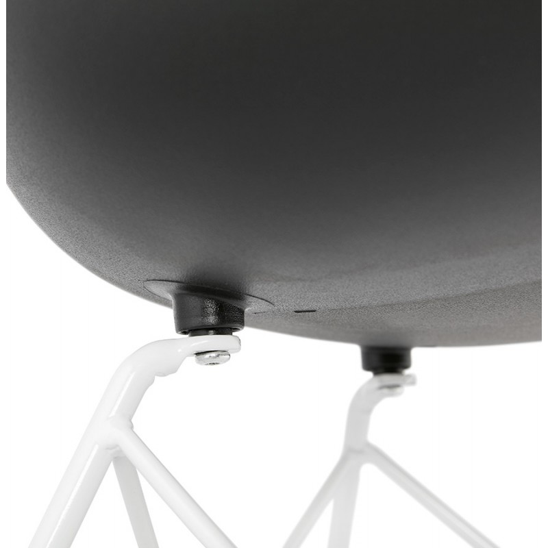 Chaise design et moderne TOM en polypropylène pied métal blanc (noir) - image 37121