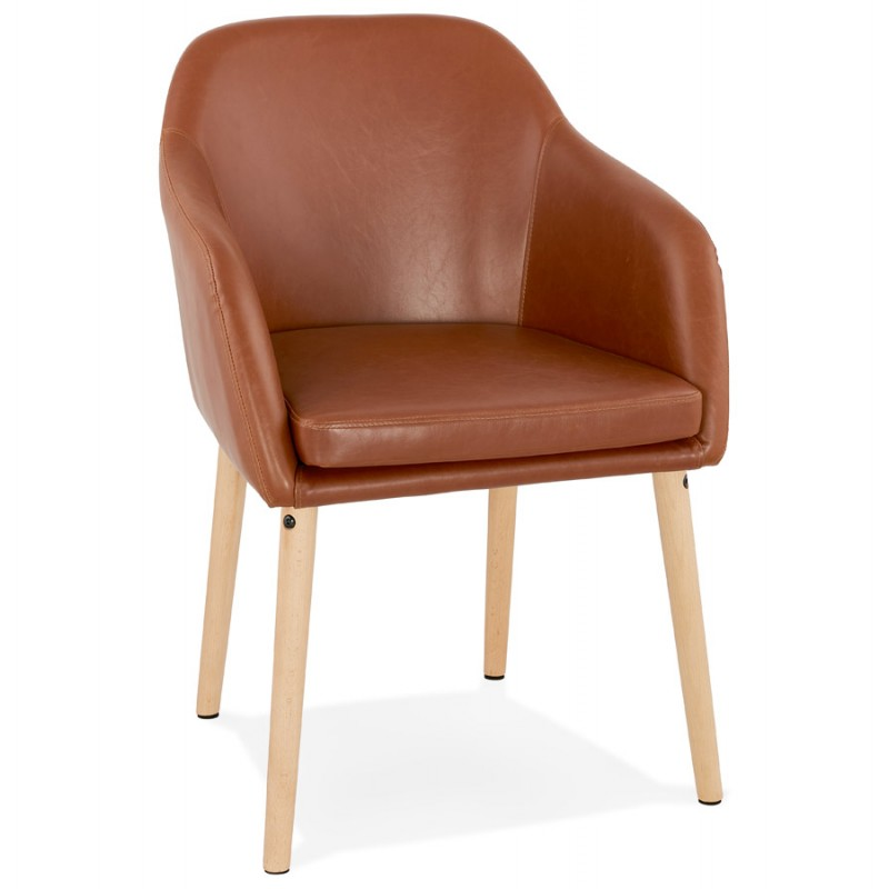 Chair with armrests PABLO (Brown) vintage - image 37139
