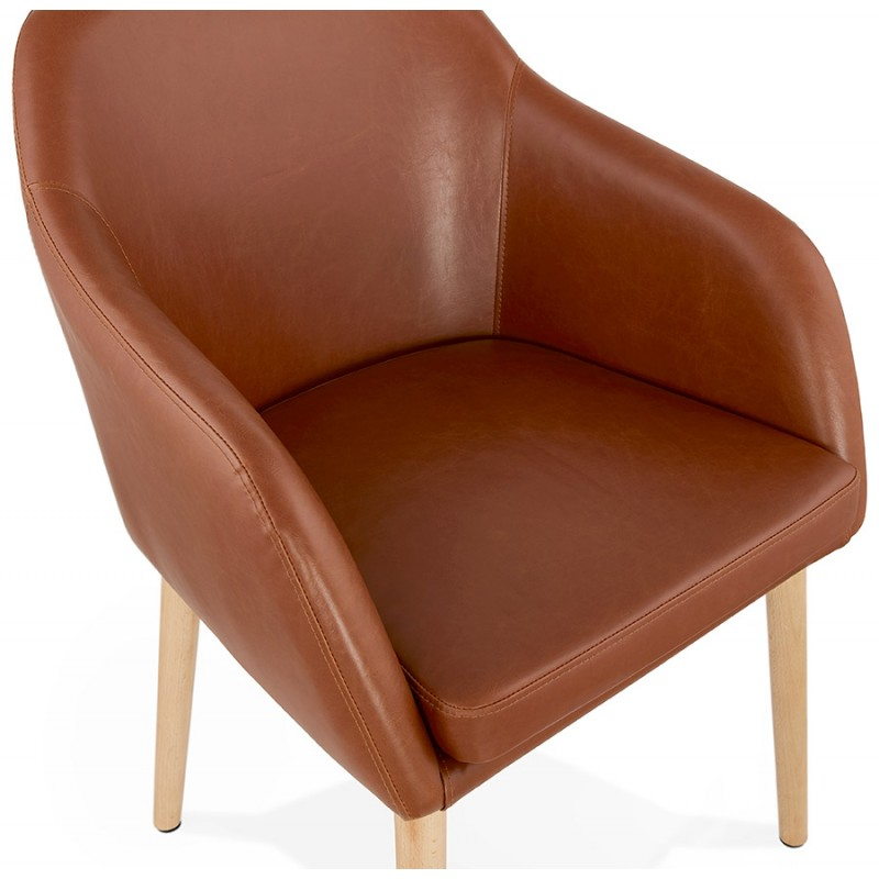 Chair with armrests PABLO (Brown) vintage - image 37144