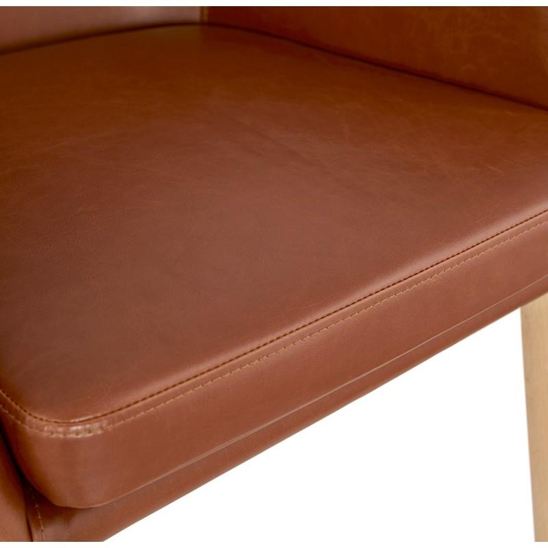 Fauteuil vintage avec accoudoirs PABLO (marron) - image 37145