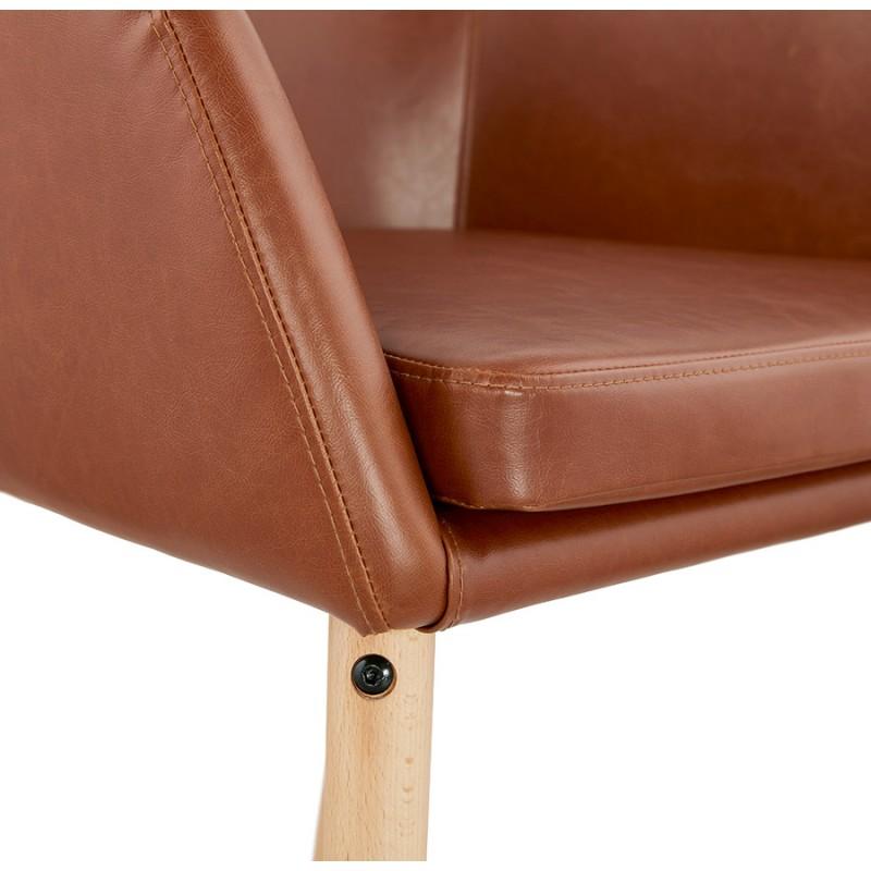 Fauteuil vintage avec accoudoirs PABLO (marron) - image 37147