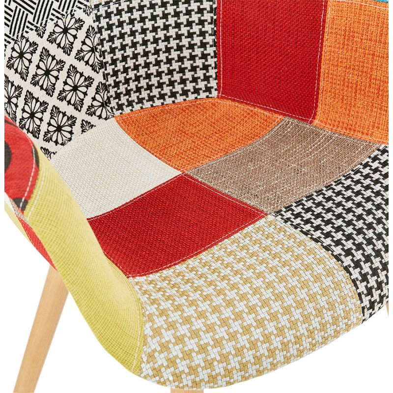 Design chair and Bohemia patchwork with armrests Ophelia in fabric (multicolor) - image 37188