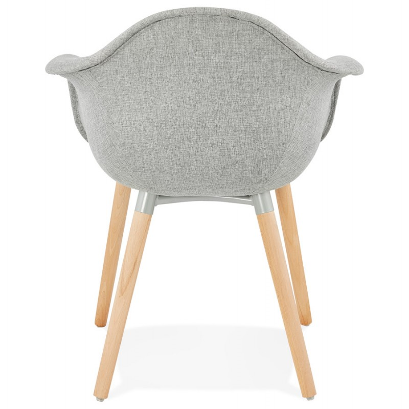 Scandinavian design chair with armrests Ophelia in fabric (light gray) - image 37204