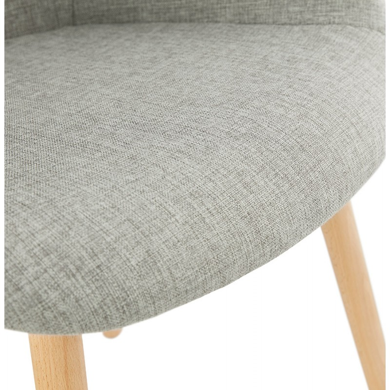 Scandinavian design chair with armrests Ophelia in fabric (light gray) - image 37206
