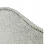 Scandinavian design chair with armrests Ophelia in fabric (light gray)
