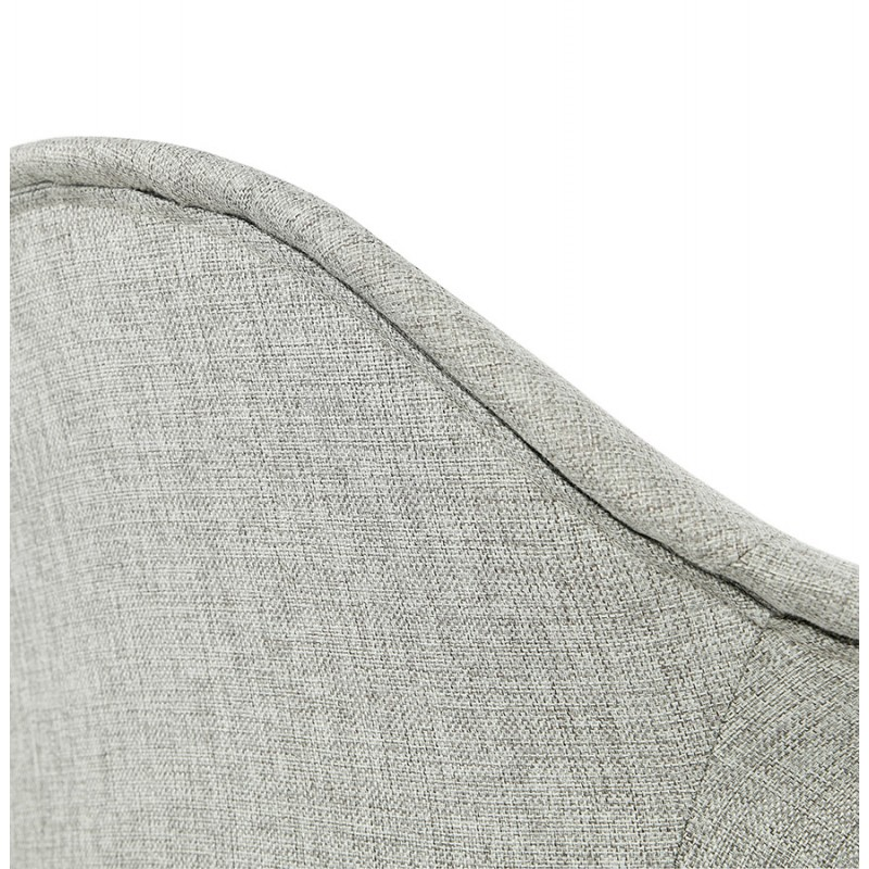 Scandinavian design chair with armrests Ophelia in fabric (light gray) - image 37209