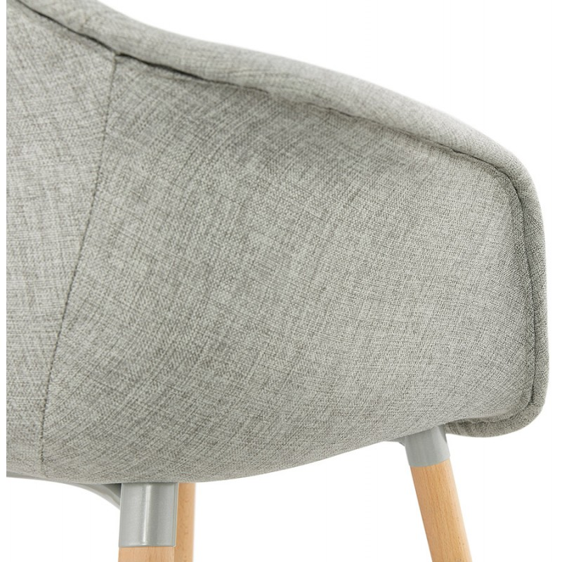 Scandinavian design chair with armrests Ophelia in fabric (light gray) - image 37210