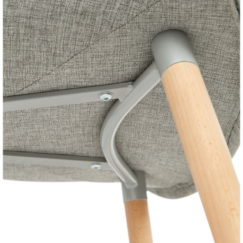 Scandinavian design chair with armrests Ophelia in fabric (light gray) - image 37212