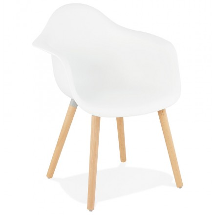 Scandinavian design chair with armrests Ophelia polypropylene (white)