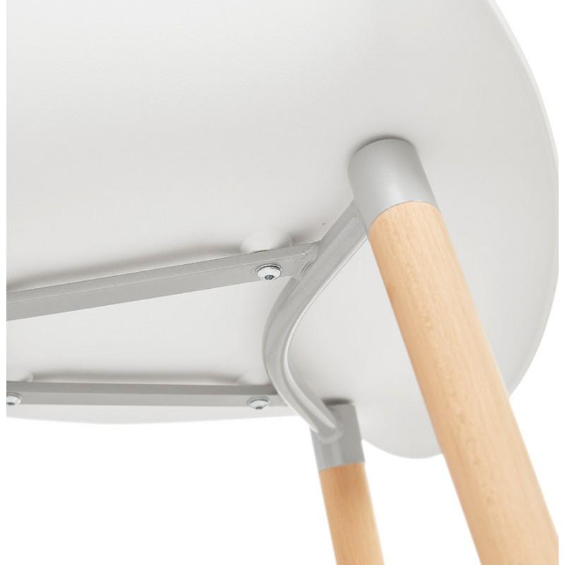 Sedia design scandinavo con polipropilene di braccioli Ophelia (bianco) - image 37365