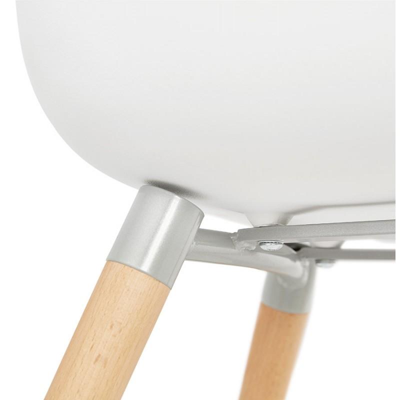 Sedia design scandinavo con polipropilene di braccioli Ophelia (bianco) - image 37367