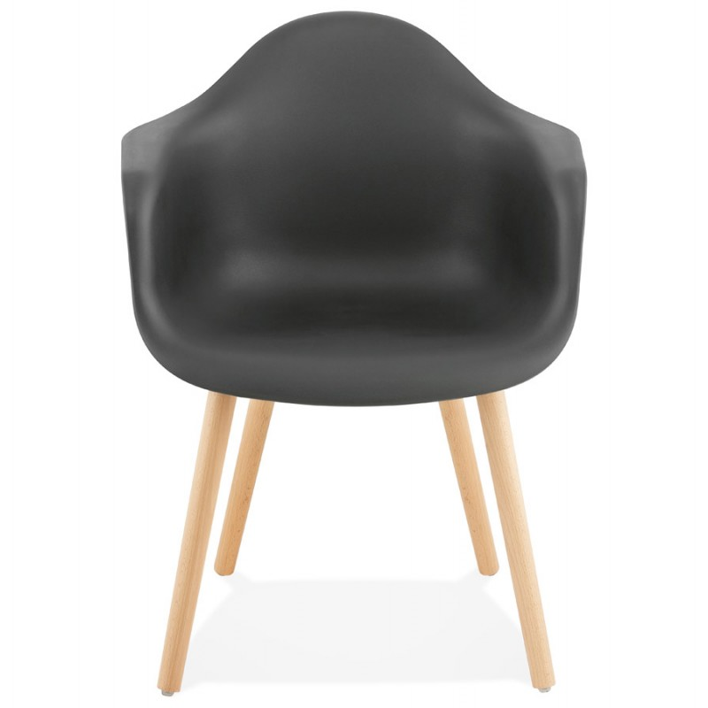 Scandinavian design chair with armrests Ophelia polypropylene (black) - image 37371
