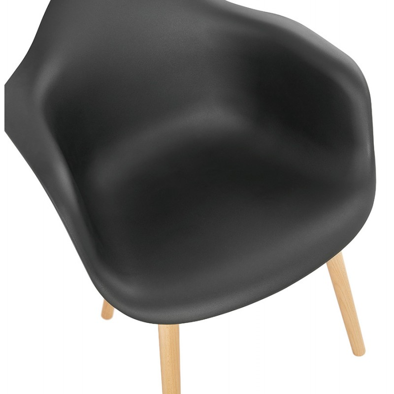Scandinavian design chair with armrests Ophelia polypropylene (black) - image 37375