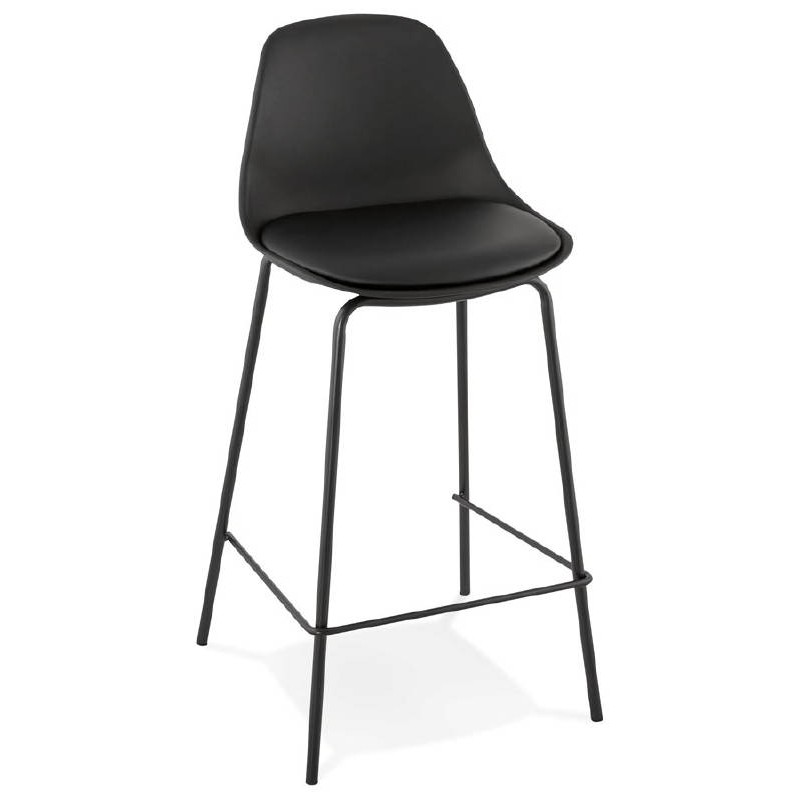 Bar bar halfway up industrial OCEANE MINI (black) chair stool - image 37382